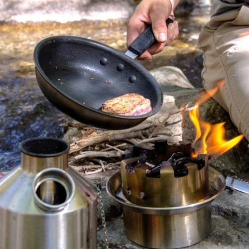 Kelly Kettle - Hobo Stove in Action