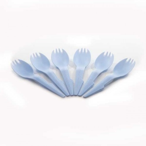 Light Blue Sporks 6 Pack