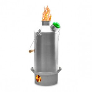 Stainless Base Camp Large Kettle - Free V1 Pot Support & Sporks