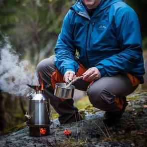 Stainless 'Scout' - Medium Kelly Kettle + FREE V1 Pot Support + 2 FREE Sporks