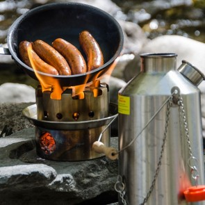 Stainless 'Base Camp' + Large Hobo Stove