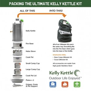 Kelly Kettle® Ultimate Scout Kit – Stainless Steel Camp Kettle