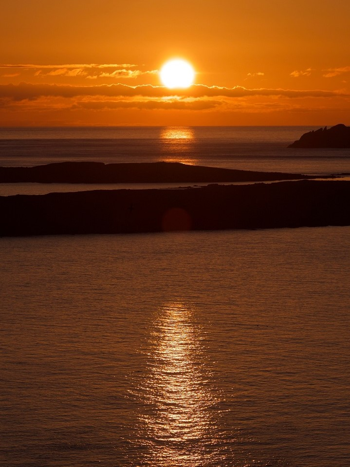 Sun Setting On Shetland Islands