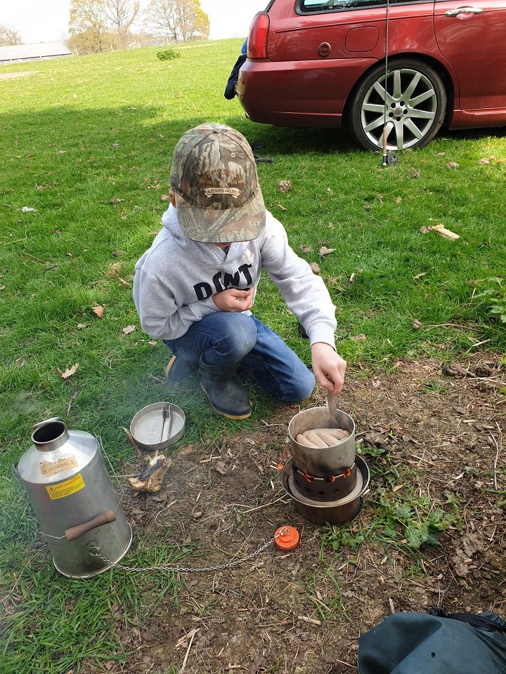 Making memories with my grandson. Boiled up the Kelly for a cup of tea and he then cooked us sausages for our lunch. His first time with my Kelly, taught him how to light the kettle without matches or a lighter. Great adventure for a 9 year old. He finished off the day catching his first trout and went on to catch 2 more.