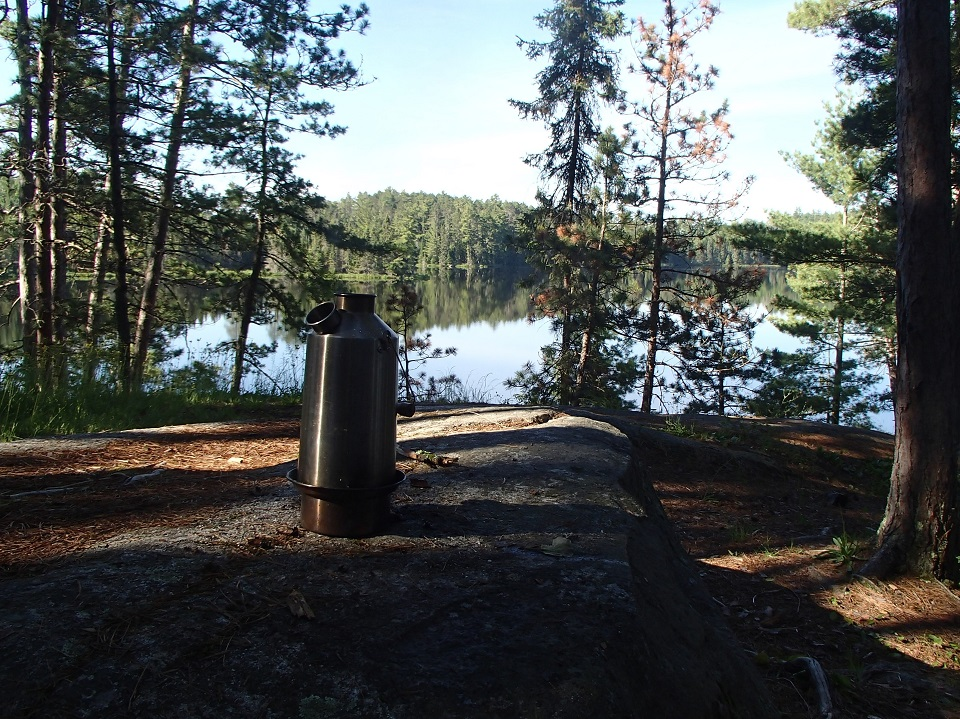 Quetico Provincial Park (Ontario). The Kettle is running so hot you can't even see smoke!