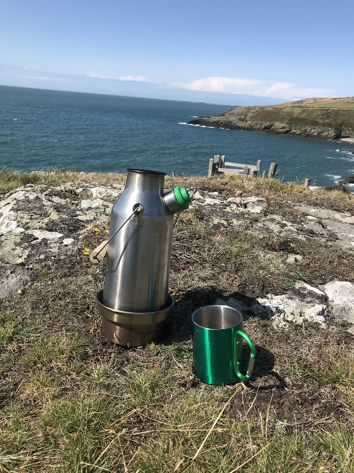 View of the Skerries in Anglesey (North Wales, U.K.) with a nice Kelly cuppa