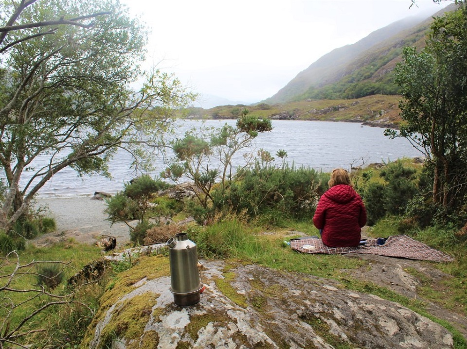 Afternoon picnic by the Lakes of Killarney, Kerry, Ireland