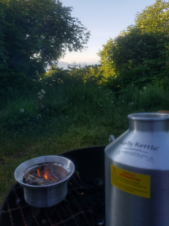 Camping Alaska with Kelly Kettle - picture taken Homer, Alaska