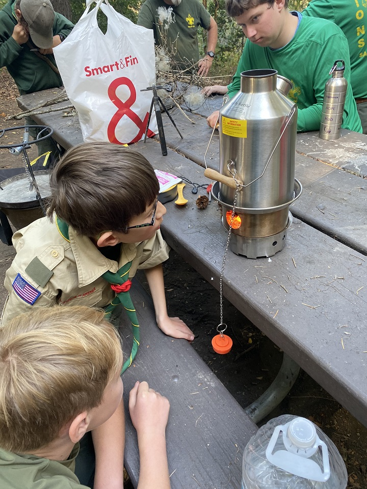 I'm a scout master and our scouts really enjoyed using my Kelly kettle on this campout. What a great tool for them to learn fire skills with!
