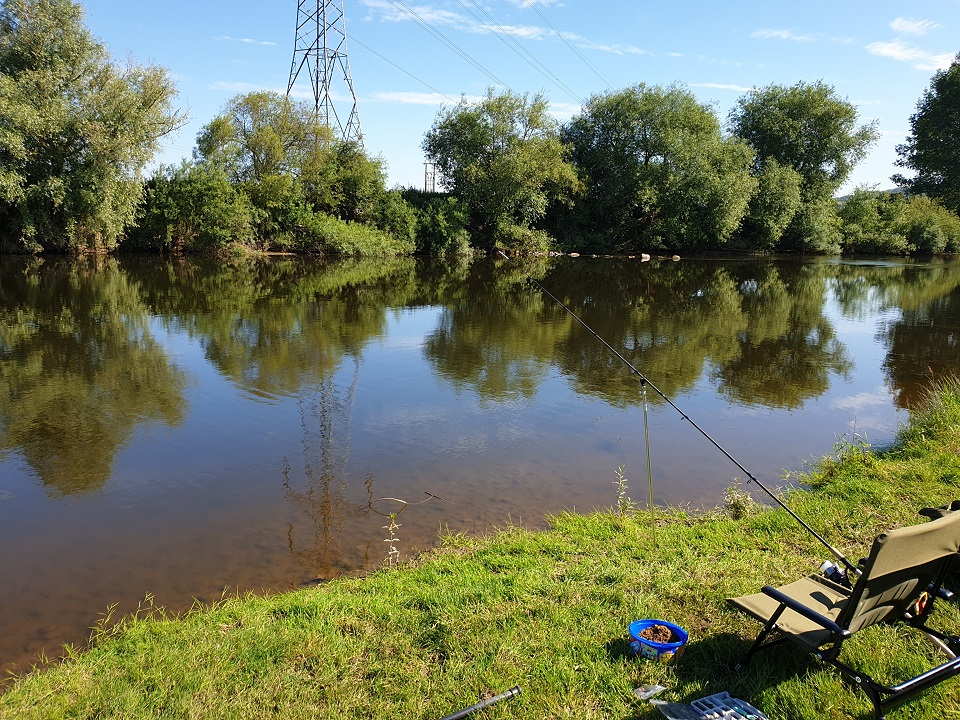 Another Day in Paradise./  Fishing the river wye, july 2019. Just lacking a nice cup of tea