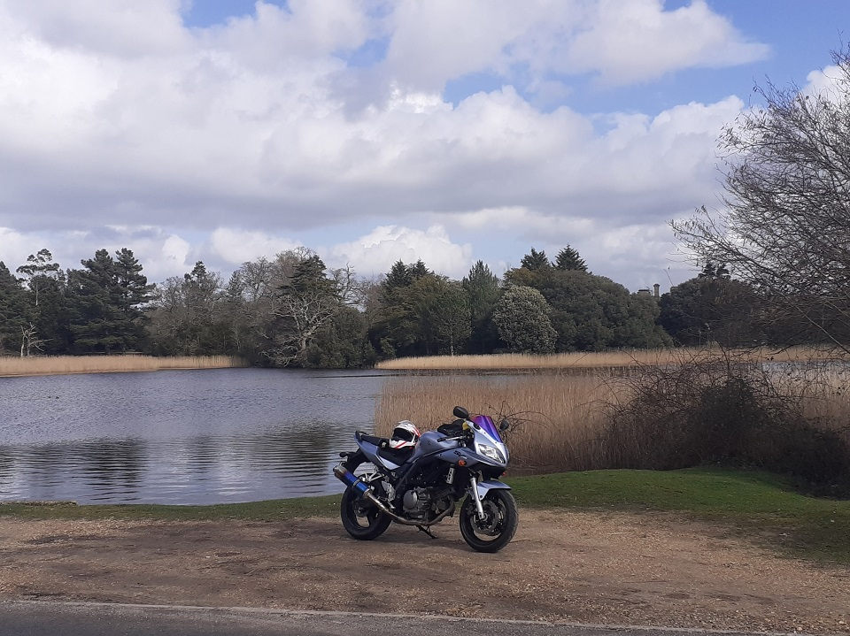 This was my first proper ride out into the New Forest on my big bike after passing my test! Could've really done with a cup of coffee at this rest stop though. Really missing exploring the countryside at the moment so summer can't come soon enough! #WhereWouldYouUseYours