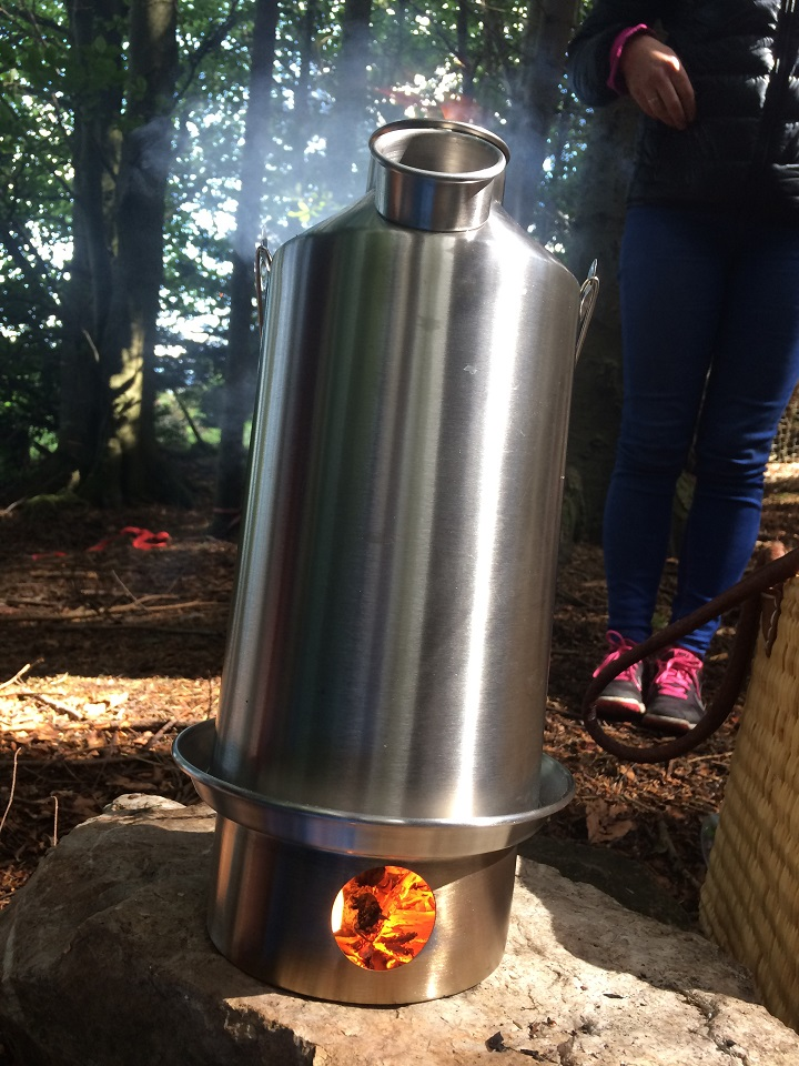 Enjoying the outdoors all the more with a well deserved cuppa from my Kelly Kettle (Cork, Ireland)