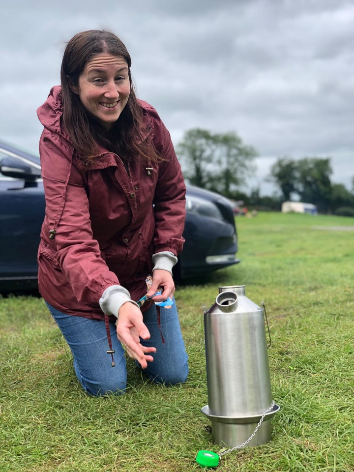 My husband bought me a Kelly kettle for my birthday and this is the photo of its maiden boil! I went to Cavan (Ireland) where my own grandad used to fish.