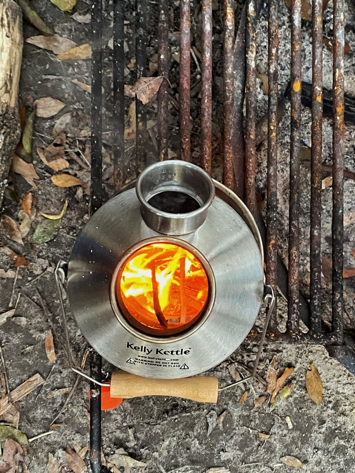 The ideal companion to campfire cooking - the Kelly Kettle is a necessity at our campsite! #KellyKettle (O'Lena State Park, Florida, USA)