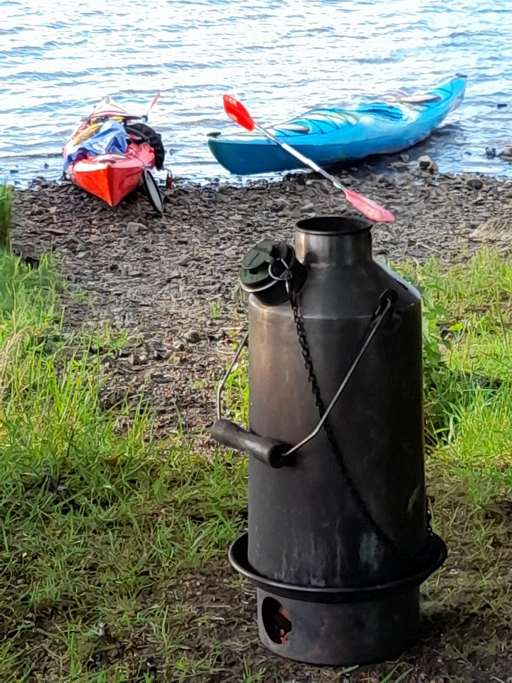 Our Kelly Kettle is a few years old now, but still does a great job. It comes out on every kayaking trip! (Lough Gill, Sligo, Ireland)
