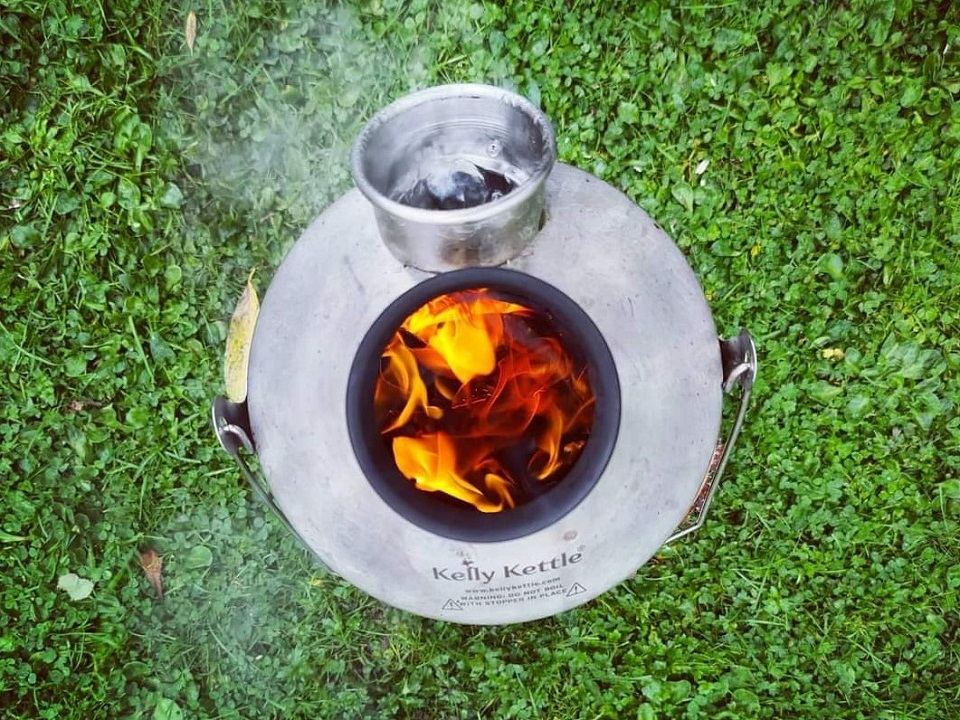 This was taken by my boyfriend, Joe, who works as a tree surgeon (arborist). He swears by his Kelly Kettle - this one was taken when he was working on a job one day. He takes it with him throughout the year and would be lost without it!