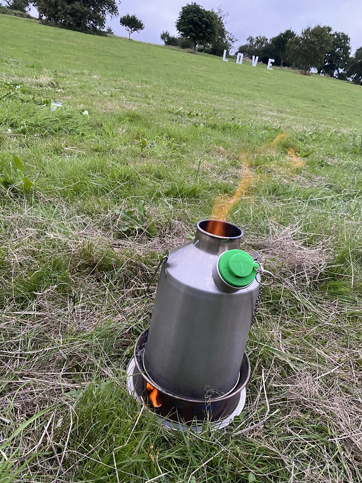 Sums up exactly how we feel about our Kelly Kettle (Lakefest Music Festival, U.K., 2021)