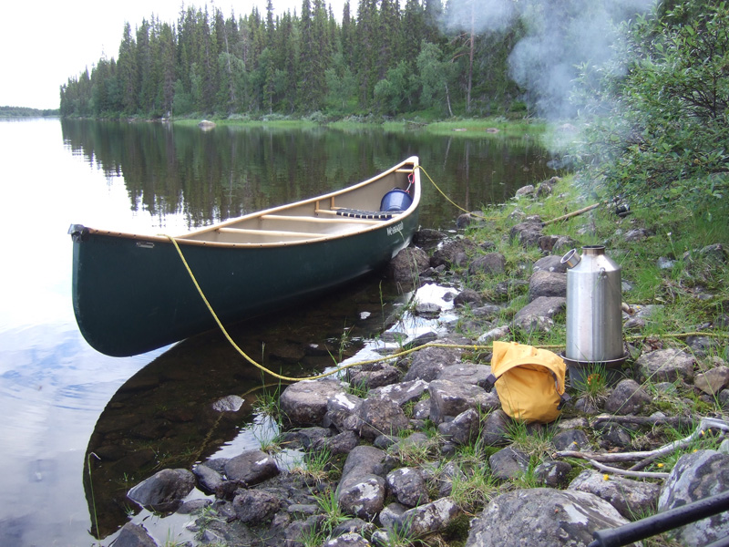 Camp on the River Laislven Sweden