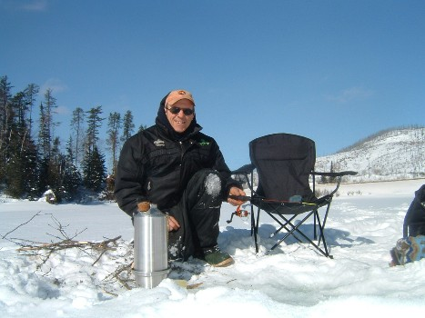 Ice Fishing with Kettle - Frank Chisholm