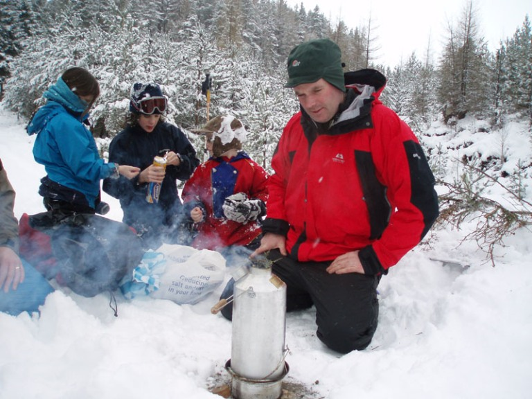 Kelly Kettle in the Snow